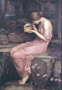 Psyche Opening the Golden Box, by John William Waterhouse